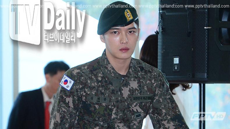 คิมแจจุง JYJ  โดนจวก  หลังติดเครื่องหมายธงชาติเกาหลีกลับด้าน