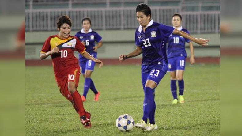 แข้งหญิงไทยลุยยำเมียนมา 3-2 คว้าแชมป์อาเซียน