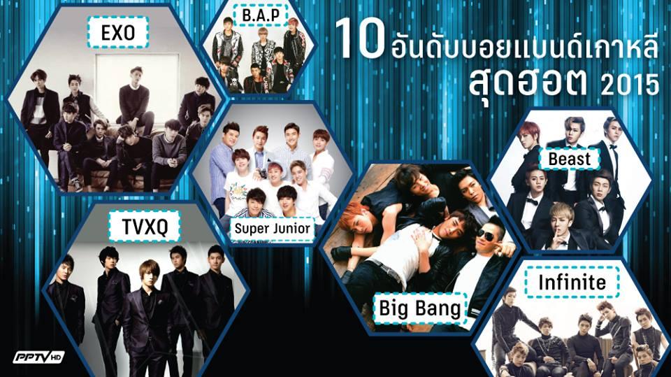 10 อันดับบอยแบนด์เกาหลีสุดฮอต ปี 2015