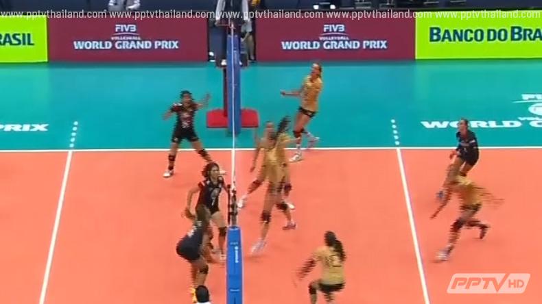 ตบนี้ที่รอคอย!วอลเลย์บอลสาวไทยเอาชนะเยอรมันนี 3 เซตรวด