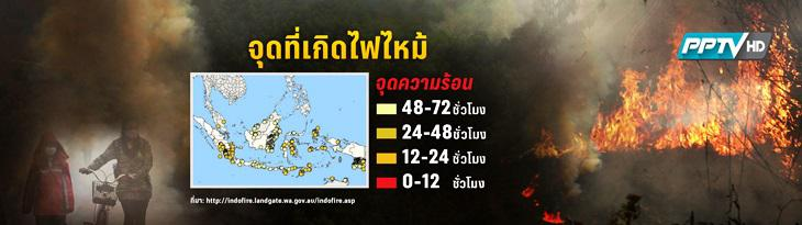ผลกระทบหมอกควันในอินโดนีเซีย หลายจังหวัดภาคใต้ยังวิกฤต(คลิป)
