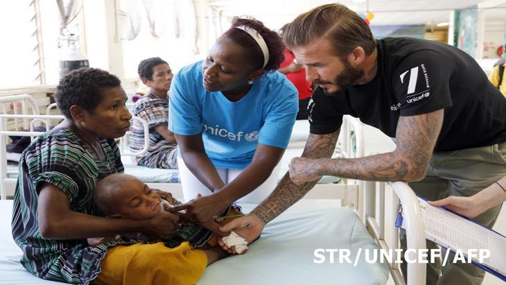 เบ็คแฮม เยือนเนปาล ในโครงการ David Beckham 7 Unicef Match