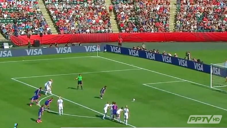แข้งสาวญี่ปุ่น เฉือน อังกฤษ 2-1 ลิ่วป้องกันแชมป์บอลโลกหญิง