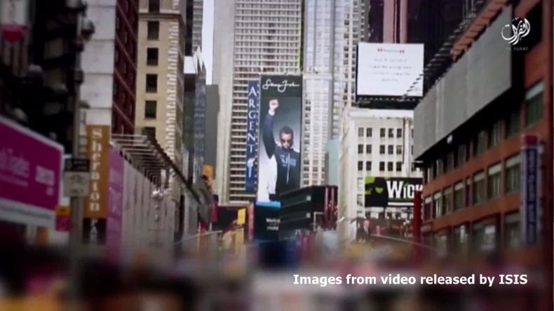 เอาอีก! ไอซิสปล่อยคลิปขู่ก่อการร้ายในนครนิวยอร์ก สหรัฐฯ