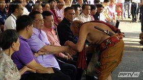พิธีเซ่นปะกำช้าง ในงานวันเกิด 87 ปีปู่ชัย ชิดชอบ