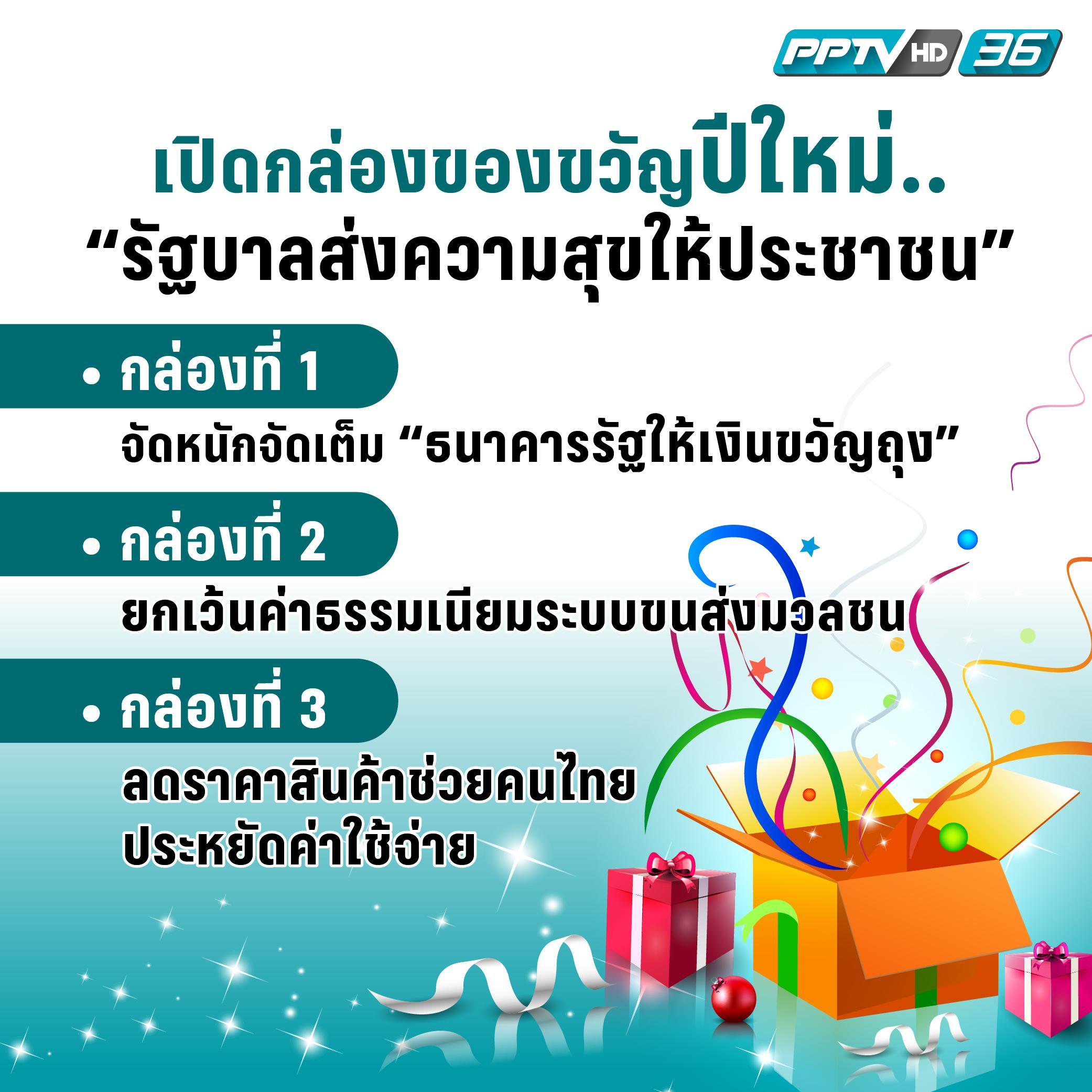 เปิดกล่องของขวัญปีใหม่..