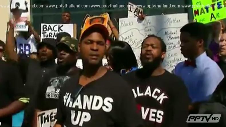 """รวมตัวประท้วงตำรวจ """"ผิวขาว"""" ยิงชาย """"ผิวสี"""" เสียชีวิต"""