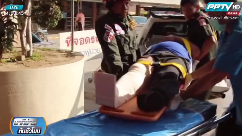 รถพยาบาลเชียงใหม่ ชนรถสองแถว เจ็บ 7