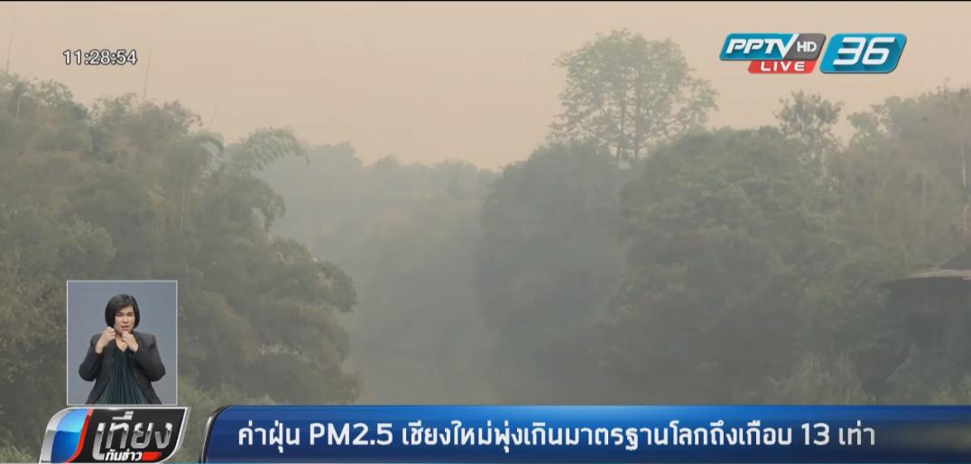 มช. เผยเชียงใหม่เช้านี้ บางพื้นที่ PM2.5 พุ่งเกิน 500