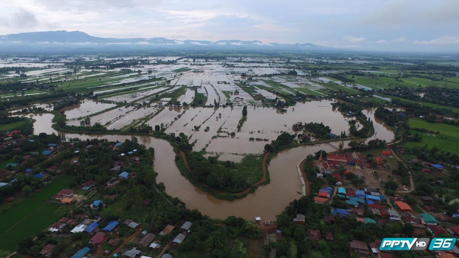 เทศบาลสุโขทัยระดับน้ำเริ่มคลี่คลาย แต่หลายพื้นที่ยังท่วมสูง (คลิป)