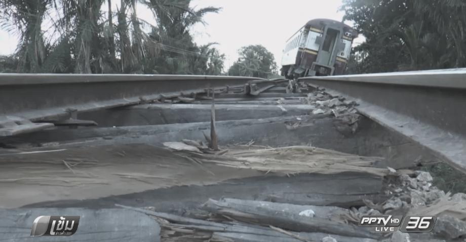 ขบวนรถไฟบรรทุกหินตกราง เร่งตรวจสอบหาสาเหตุ