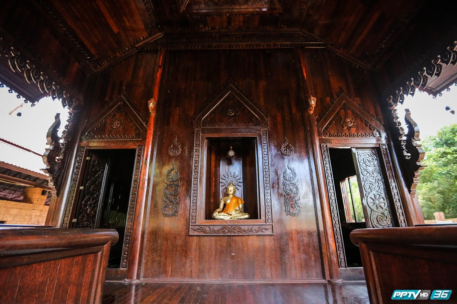 """พาชม """"โบสถ์ไม้ตาล"""" วัดอ่างสุวรรณ ความงดงามแห่งเดียวในไทย"""