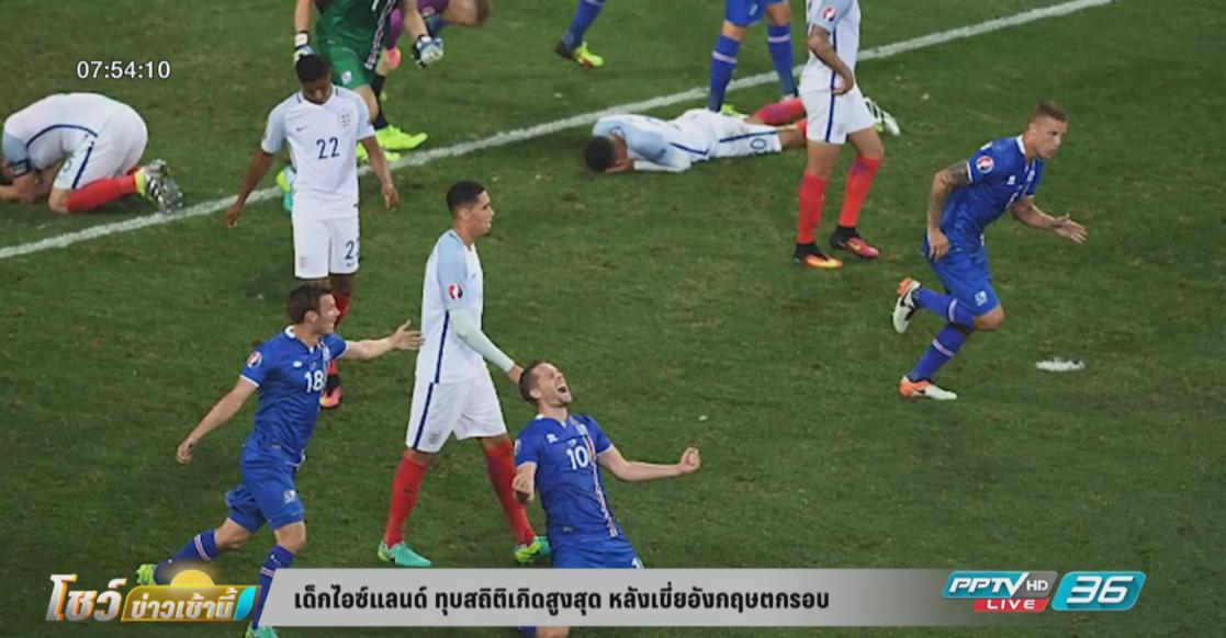เด็กไอซ์แลนด์ ทุบสถิติเกิดสูงสุด หลังเขี่ยอังกฤษตกรอบ