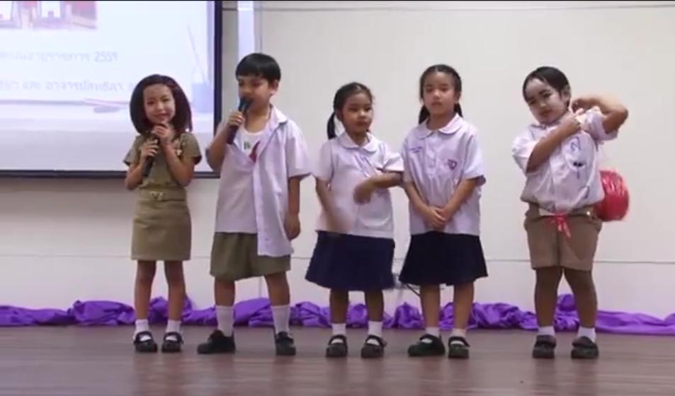 ทะลุล้านวิว! นักเรียนตัวน้อยโชว์ละครเวที รับส่งมุกสุดฮา