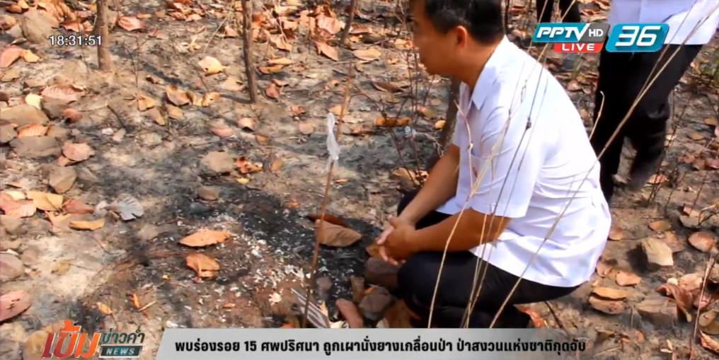 พบร่องรอย 15 ศพปริศนาถูกเผานั่งยางเกลื่อนป่า