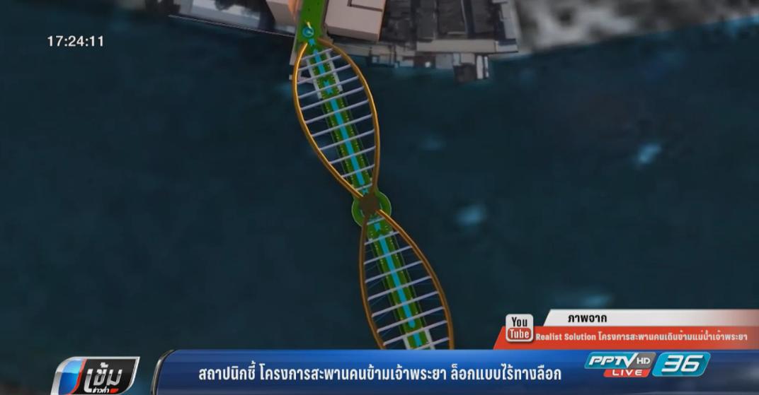 สถาปนิกชี้ โครงการสะพานคนข้ามเจ้าพระยาล็อกแบบไร้ทางลือก