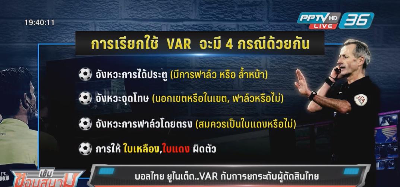 VAR กับการยกระดับผู้ตัดสินไทย