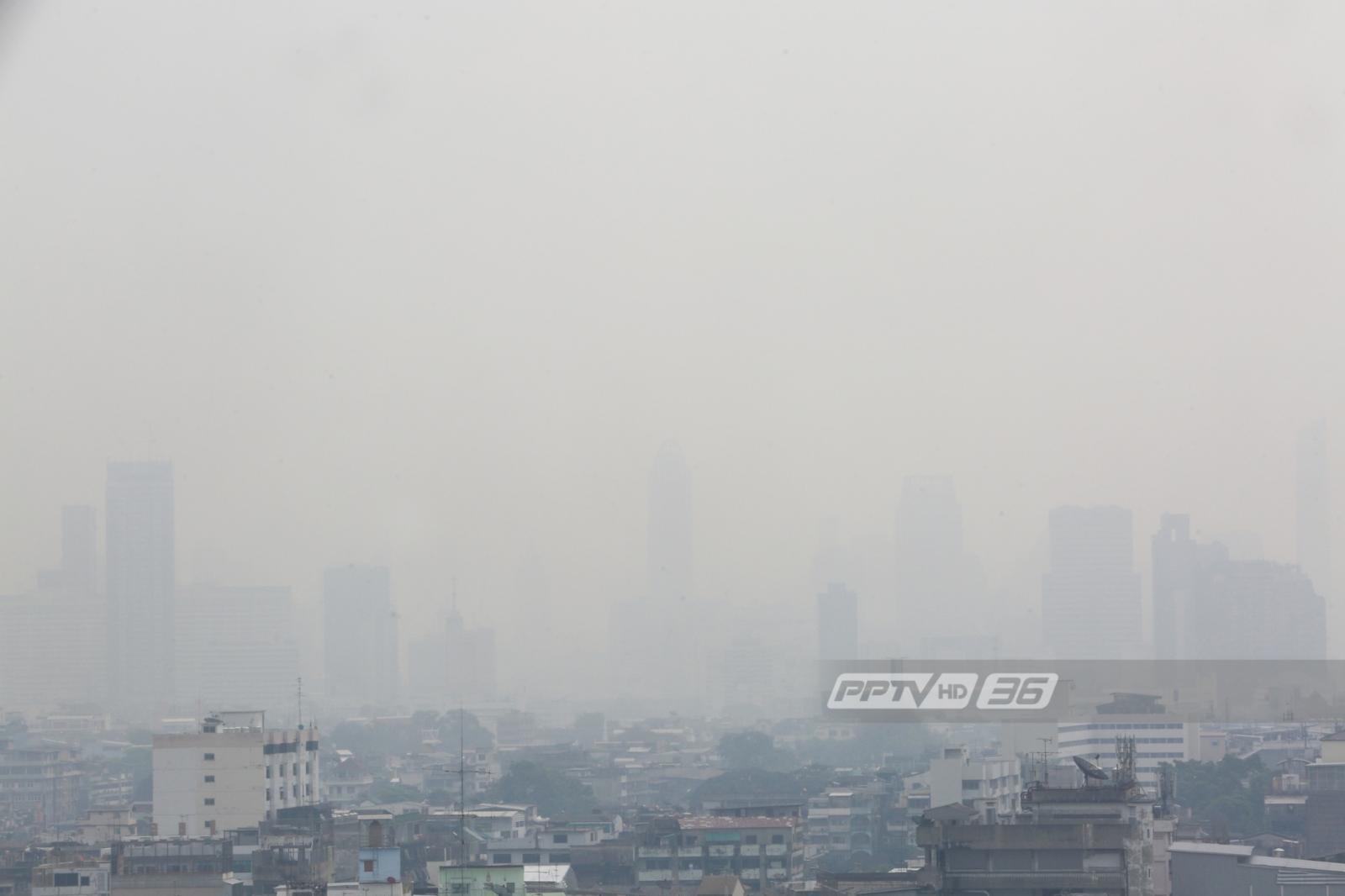 สธ.เตือนฝุ่น PM2.5 ปกคลุมกทม.ระวังสุขภาพ-ลดอยู่นอกอาคาร