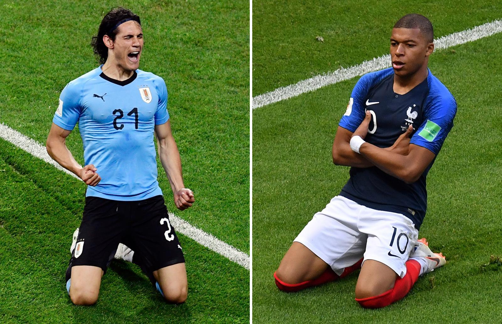 """""""อุรุกวัย"""" พบ """"ฝรั่งเศส"""" ชิงตั๋วเข้ารอบ 8 ทีม ฟุตบอลโลก2018"""