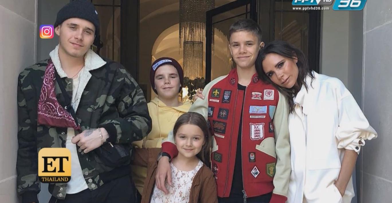 """สุดน่ารัก !! ครอบครัวเซอร์ไพร์สวันเกิด """"เดวิด เบ็คแฮม"""""""