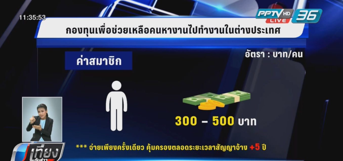 แนะแรงงานไทยสมัครกองทุนช่วยเหลือคนหางาน