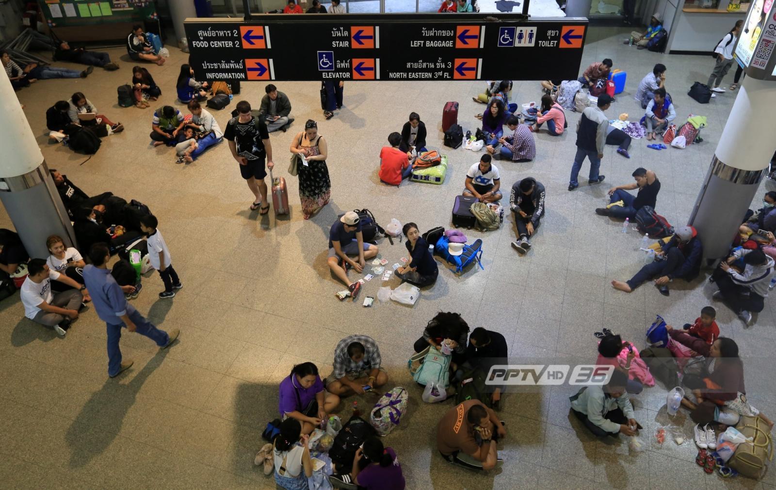 คาดประชาชนขึ้นเหนือ-อีสานรวม 3 สถานีขนส่งฯ วันนี้ราว 150,000 คน