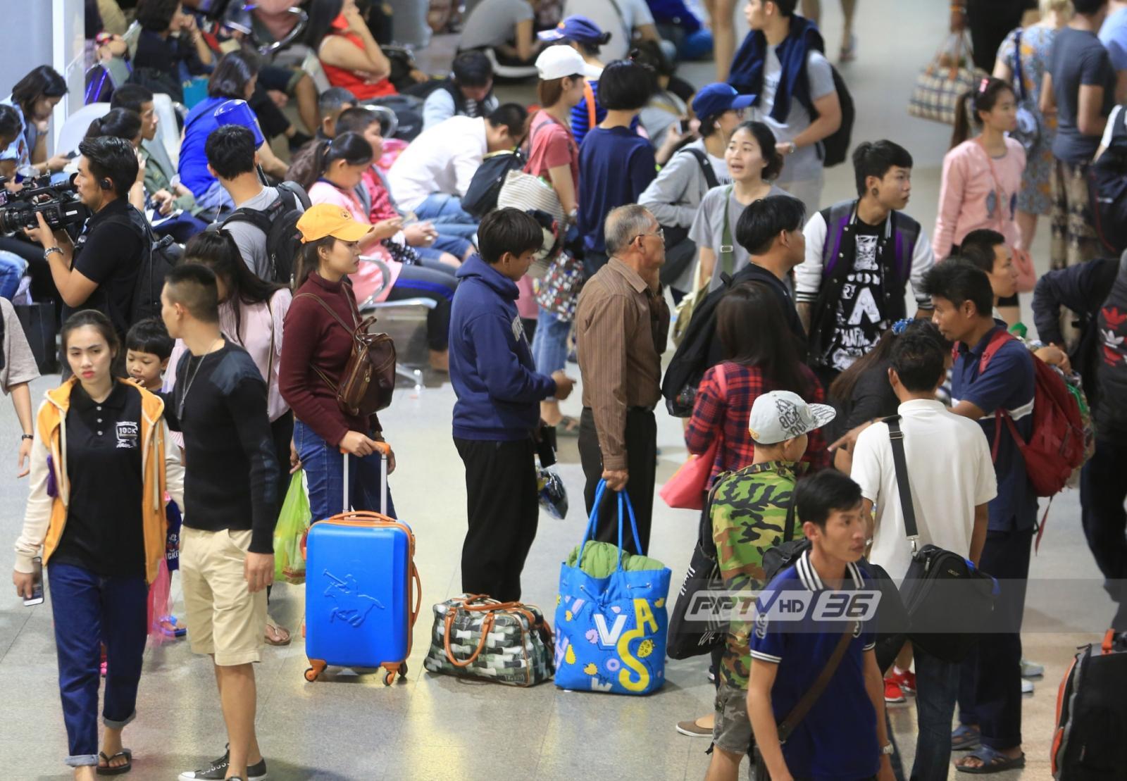 บขส.มั่นใจ ไม่มีผู้โดยสารตกค้าง ยอดคนเดินทางกว่า 150,000 คน