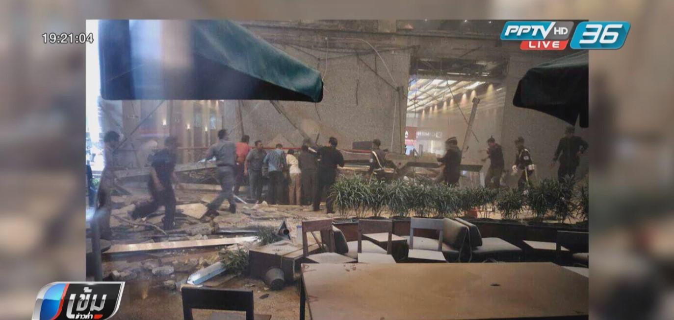 ชั้นลอยอาคารตลาดหลักทรัพย์อินโดฯ ถล่ม เจ็บอย่างน้อย 77 คน