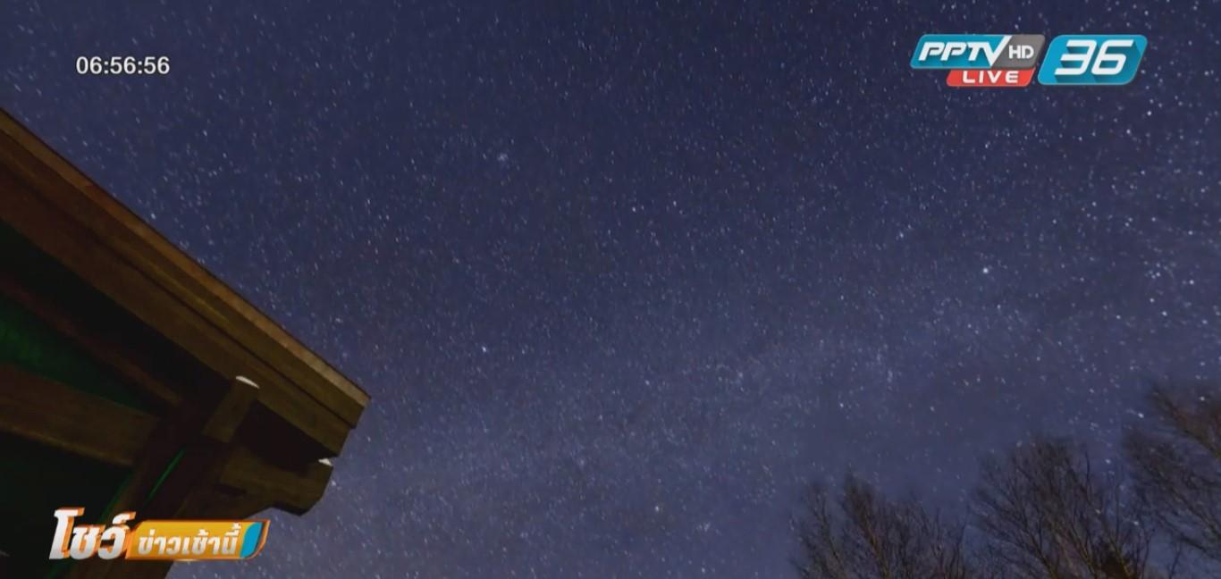 สวยงาม ! ฝนดาวตกเจมินิดส์ เหนือท้องฟ้าประเทศจีน