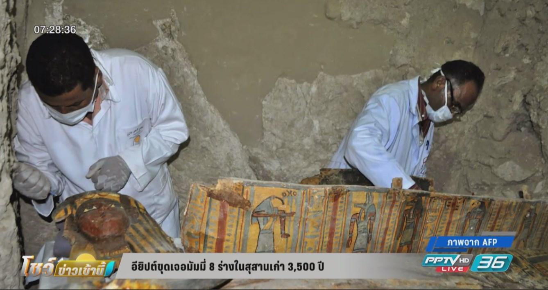 อียิปต์ขุดเจอมัมมี่ 8 ร่างในสุสานเก่า 3,500 ปี