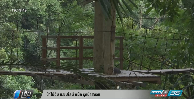 กรมป่าไม้จับ บ.ซิปไลน์ แม็ก รุกป่าสงวน