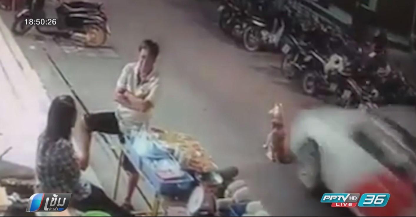 ตำรวจออกหมายเรียกชายขับรถทับหมา เจ้าของจ่อฟ้องหลังคู่กรณีไม่ขอโทษ