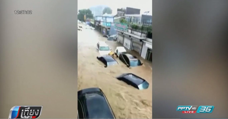 """จีนออกคำเตือนรับมือพายุไต้ฝุ่น """"เซินกา"""""""