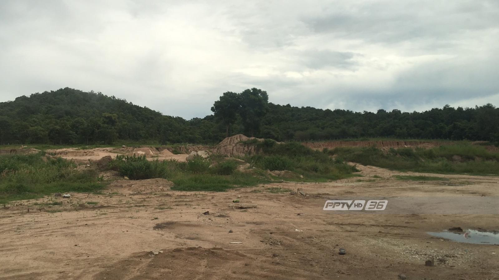 """""""ศรีวราห์"""" สั่งยึดที่ดินรุกล้ำเขตป่าพังตุ จ.กาญจนบุรี ลักลอบขุดทรายขาย"""