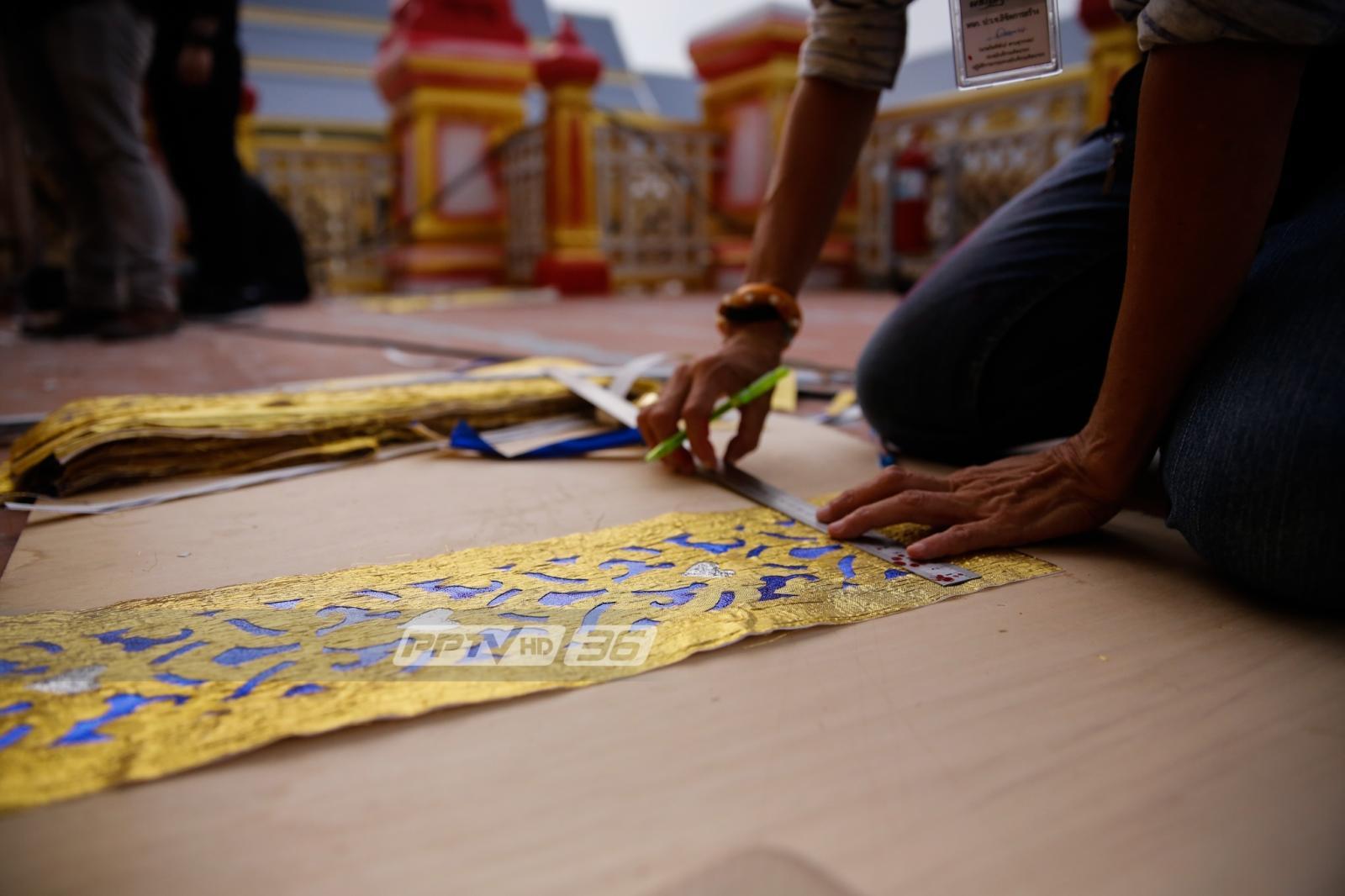 ภาพรวมก่อสร้างพระเมรุมาศ อาคารประกอบคืบหน้ากว่าร้อยละ 70