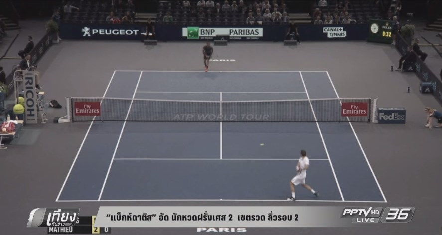 """""""ซิมง"""" ชนะ """"เบนเนตู"""" ฉลุยรอบแรก เทนนิส ปารีส มาสเตอร์"""