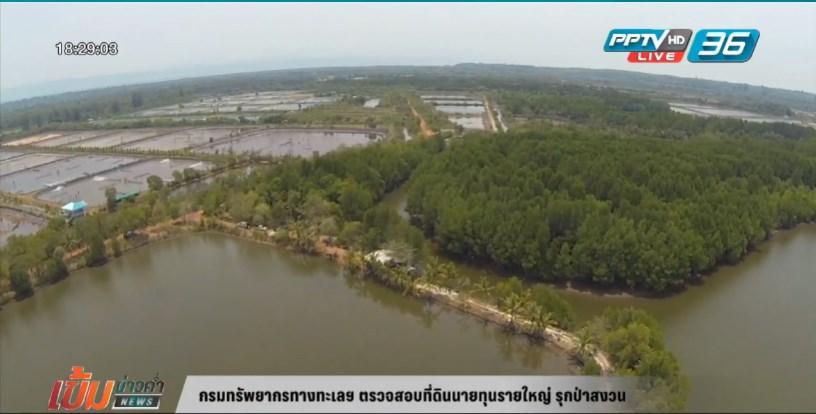 กรมทรัพยากรทางทะเลฯ ตรวจสอบที่ดินนายทุนรายใหญ่ รุกป่าสงวน (คลิป)