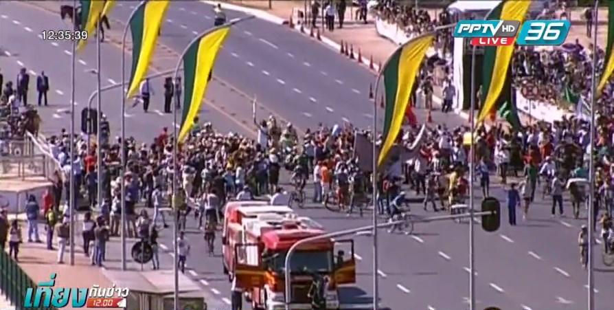 ผู้นำบราซิลรับมอบคบเพลิงโอลิมปิก 2016