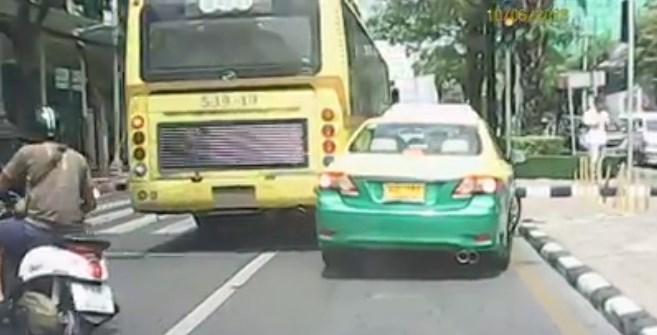 ขสมก. ลงดาบ ! รถเมล์สาย 539 หลังขับเบียดแท็กซี่