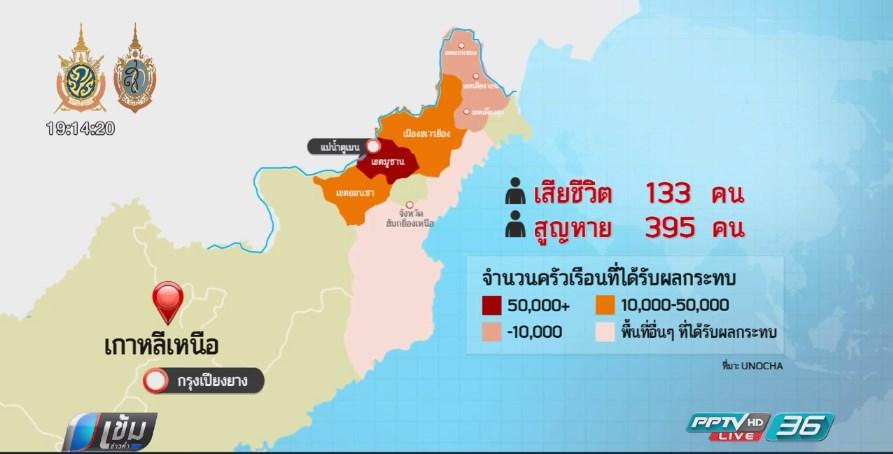 เกาหลีเหนือส่งสัญญาณขอความช่วยเหลือหลังน้ำท่วมใหญ่