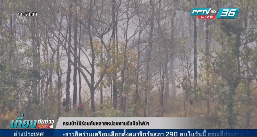 กรมป่าไม้ร่วมกับหลายหน่วยงานรับมือไฟป่า