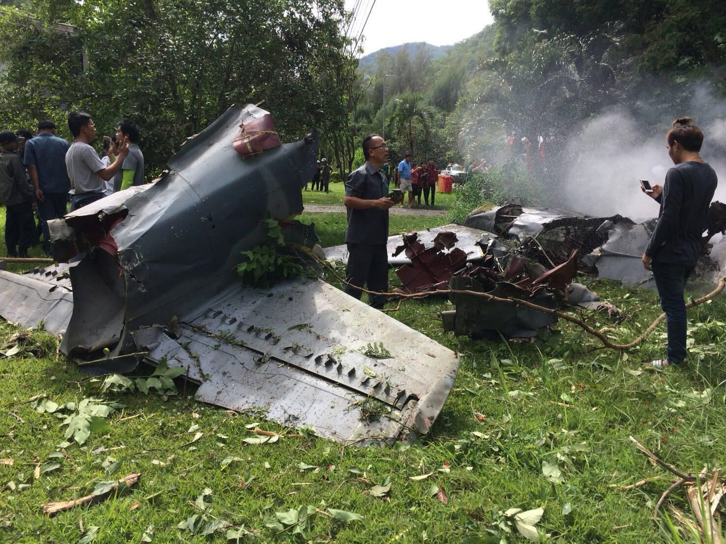 เครื่องบินขับไล่ตก นักบินดับ1เจ็บ1