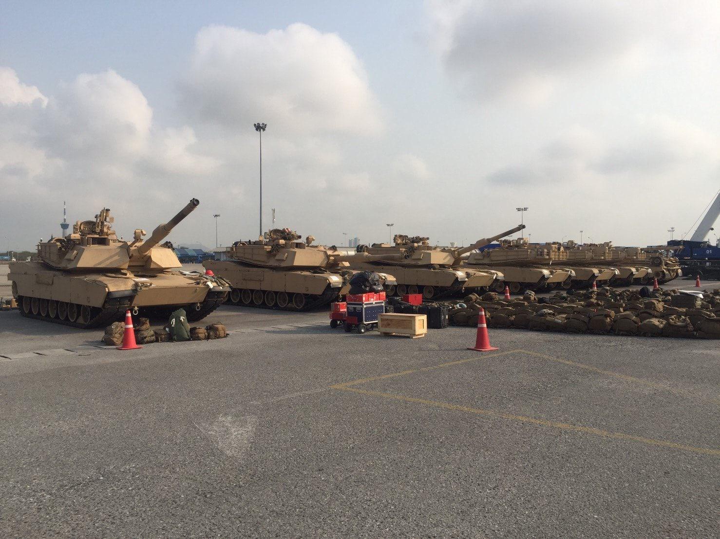 รถถัง M1A1  มาแล้ว! ซ้อมรบคอบบร้าโกลด์ 2019