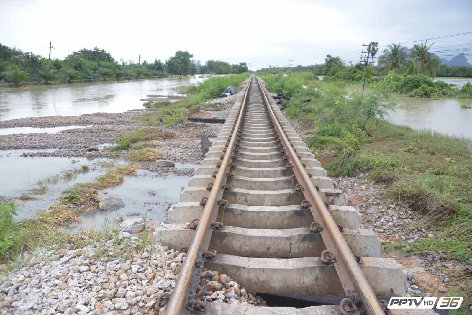 เร่งซ่อมทางรถไฟสายใต้ หลังถูกกระแสน้ำกัดเซาะ 16จุด