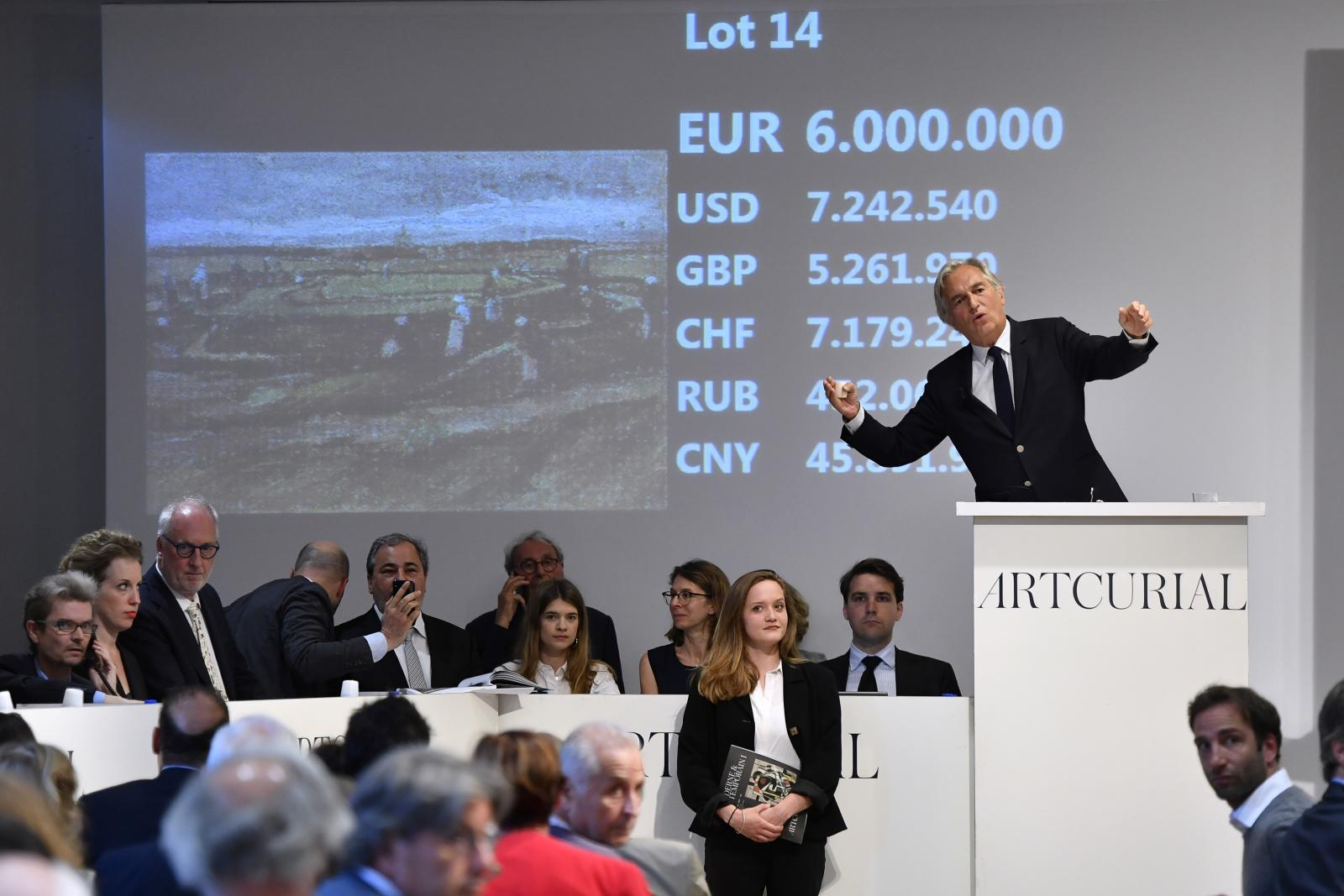 """ภาพวาด """"แวนโก๊ะ"""" ถูกประมูลในฝรั่งเศส 263 ล้านบาท"""