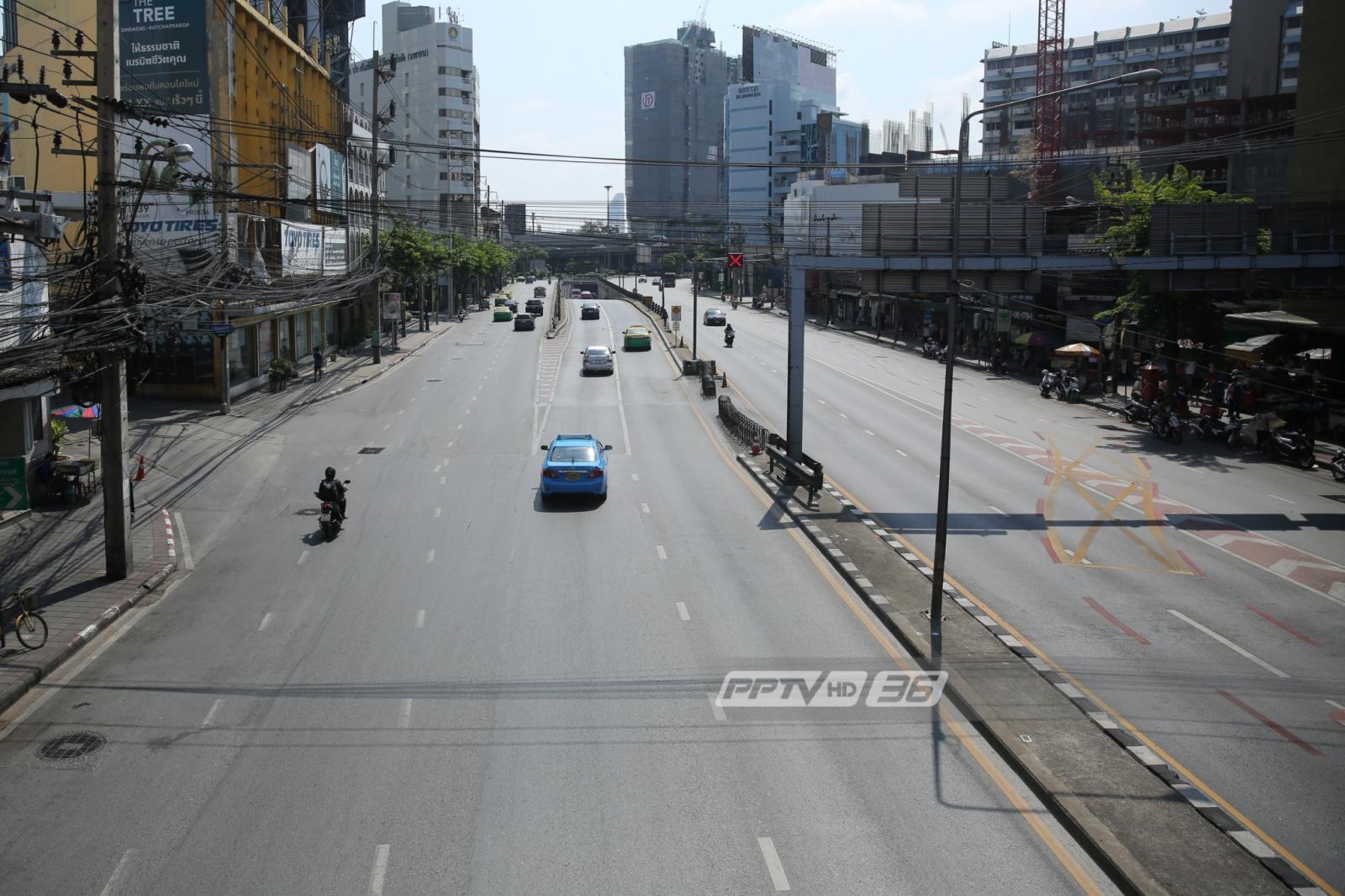 โล่งสุดลูกหุูลูกตา! ภาพถนนเมืองกรุงฯช่วงวันหยุดยาวสงกรานต์