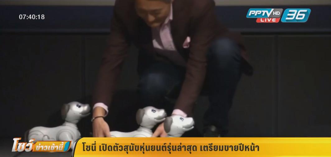 โซนี่ เปิดตัวสุนัขหุ่นยนต์รุ่นล่าสุดเตรียมขายปีหน้า