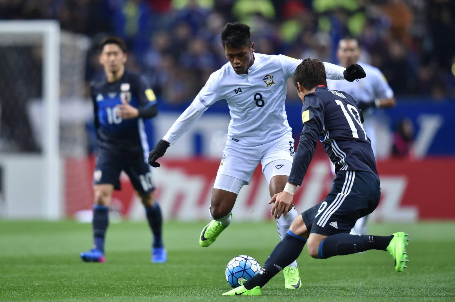 จบครึ่งแรก! ญี่ปุ่น ออกนำ ทีมชาติไทย 2-0