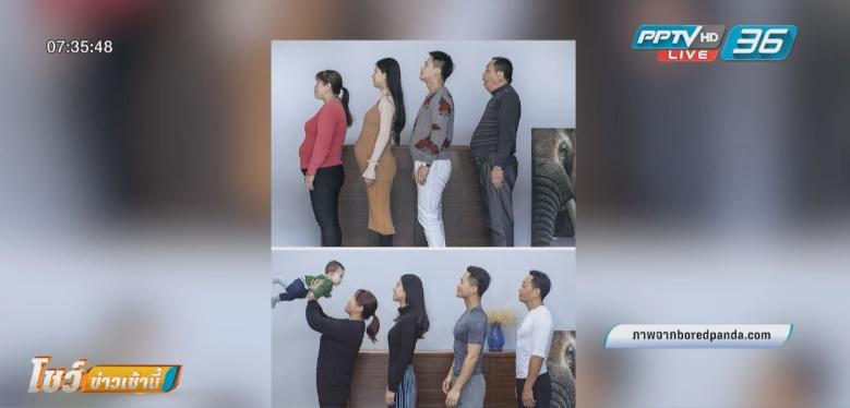 เจ๋ง!! ครอบครัวจีนชวนกันฟิตหุ่นกล้ามแน่น ลดพุงภายใน 6 เดือน