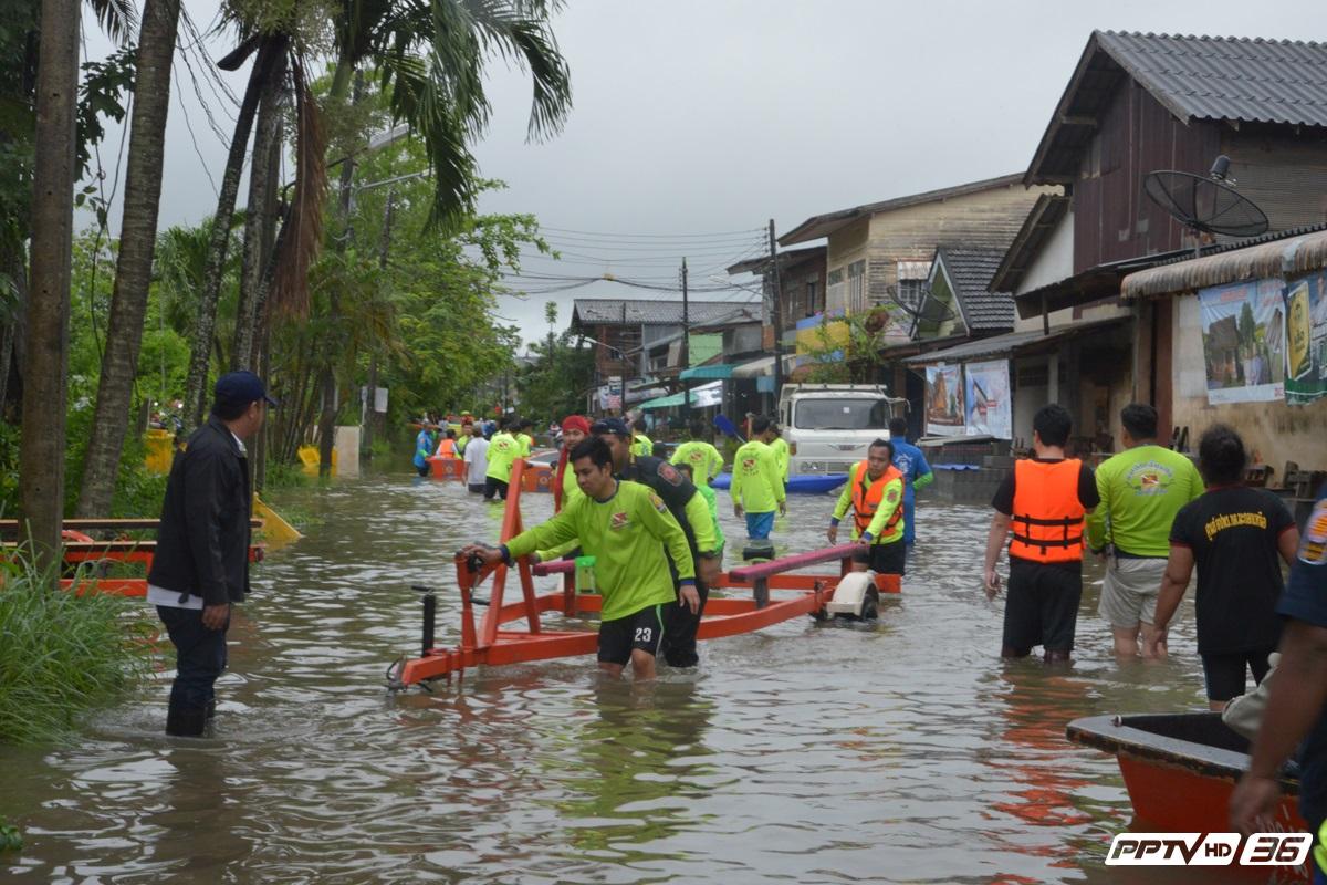 น้ำท่วมพัทลุงยังวิกฤติประกาศเขตภัยพิบัติ 11 อำเภอรถไฟหยุดวิ่ง
